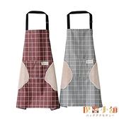 圍裙家用廚房薄款可愛日系防水防油工作服女時尚超薄罩衣【倪醬小舖】