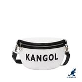 KANGOL 袋鼠 - 特殊設計網紋胸前包 白色【60553007】