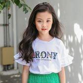女童短袖t恤2018新款棉質夏裝中大童 LQ4060『小美日記』