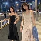 妃兒搭配小西裝外套吊帶洋裝女顯瘦收腰三醋酸緞面高端氣質長裙 蘿莉新品