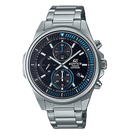 CASIO EDIFICE 輕薄系列 運動風三眼計時碼錶(EFR-S572D-1A)-藍x49mm