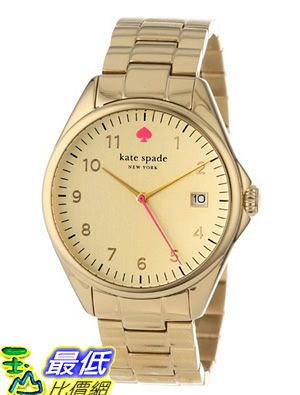 [美國直購 USAShop] 手錶 kate spade new york Women s 1YRU0030 Large Gold Seaport Watch $8487