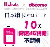 (24小時出貨) IIJ官方訊號10天日本網卡,採用docomo訊號,北海道、沖繩皆覆蓋