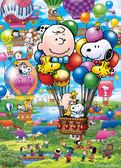 【拼圖總動員 PUZZLE STORY】氣球飛行 日本進口拼圖/Epoch/史努比/500P