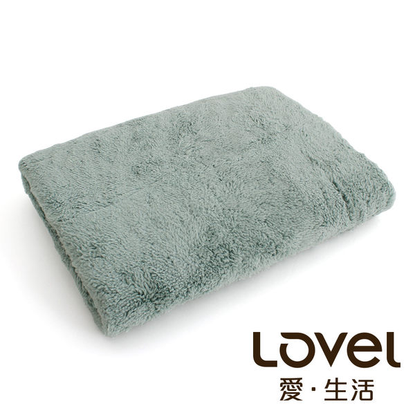 Lovel7倍強效吸水抗菌超細纖維浴巾(湖水綠)