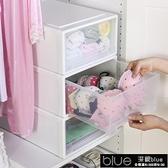 現貨 透明抽屜式收納箱衣物整理箱衣服收納櫃大號11-14【全館免運】