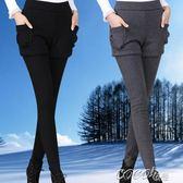 假兩件打底褲 假兩件打底褲加絨加厚女士秋季冬季外穿韓版百搭黑色大碼新款 coco衣巷