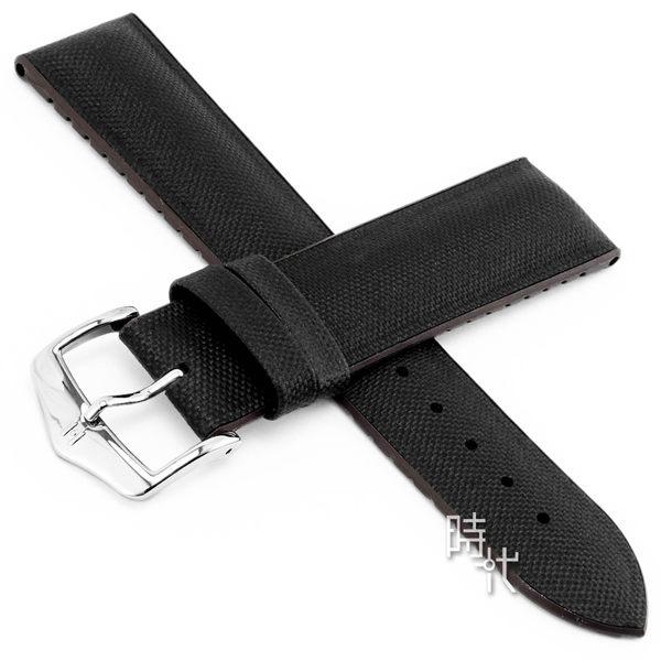 【台南 時代鐘錶 海奕施 HIRSCH】小牛皮錶帶 橡膠芯 Arne L 深棕色 附工具 0921094050 複合式性能