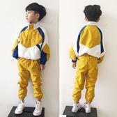 童裝男童洋氣套裝免運秋冬新款中大童兒童衝鋒衣運動休閑2件套潮