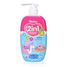 Probo博寶兒 佩佩豬 2in1植萃洗髮沐浴露 艾草香氛 500ml (嬰兒/溫和/粉紅豬/寶寶)【DDBS】
