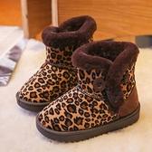 女童雪地靴2020新款冬季加絨加厚棉靴小女孩短靴男童冬鞋兒童靴子 艾瑞斯