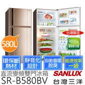 《台灣三洋SANLUX》 580公升節能變頻雙門冰箱  SR-B580BV