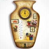 年終大清倉mieo家用溫度計歐式創意復古電子鐘室內高精度掛飾木質日用溫度計