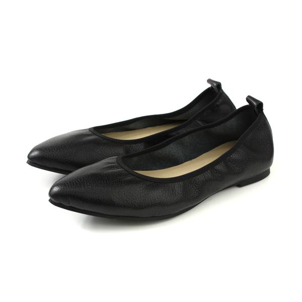 HUMAN PEACE 休閒鞋 尖頭鞋 黑色 荔枝紋 女鞋 PE1034 no638