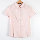 【MASTINA】明線尖領短袖襯衫-粉 ...