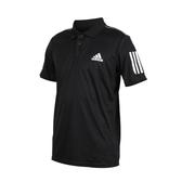 ADIDAS 3-STRIPES CLUB 男短袖POLO衫(短袖上衣 休閒 慢跑 網球 透氣 愛迪達≡體院≡