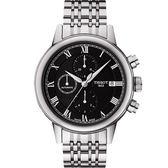 TISSOT 天梭 Carson 經典羅馬計時機械手錶-黑/42mm T0854271105300