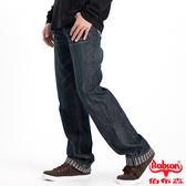 BOBSON 男款內條紋中直筒褲(藍1737-53)
