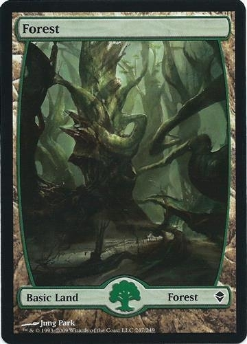 【MEIGO美購】 Zendikar Full Art Forest #247 Jung Park Land Near Mint NM Free Shipping Textless 遊戲卡
