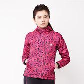 美國AIRWAL時尚個性花版風衣外套-紅