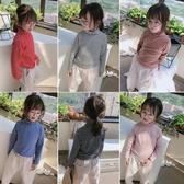 2020春秋季新款 男女童寶寶舒適百搭高領打底衫 兒童寬鬆條紋上衣 中秋降價