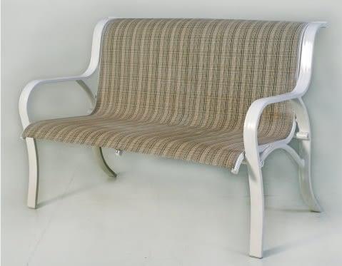 【南洋風休閒傢俱】公園桌椅系列 - 紗網公園椅 鋁合金公園椅 騎樓等待椅 戶外公園椅(A30A01)