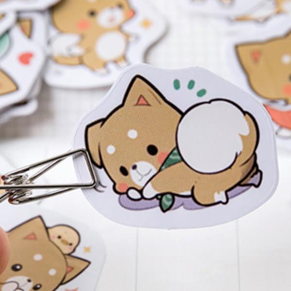 【BlueCat】小雞呆萌柴柴盒裝貼紙 手帳貼紙 (45入)