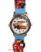 【卡漫城】 Cars 立體錶帶 手錶 藍 ㊣版 閃電麥昆 卡通錶 兒童錶 汽車總動員 膠錶 金屬錶框