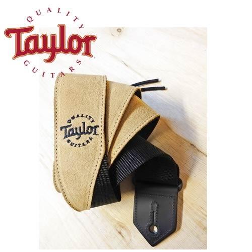 【敦煌樂器】TAYLOR TLOP-65122 卡其色麂皮尼龍吉他貝斯背帶