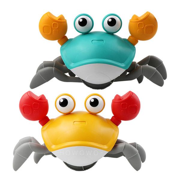 會走路的螃蟹 卡通螃蟹 商檢合格 發條 拉繩螃蟹 洗澡玩具 學步 沙灘玩具 戲水玩具 9867