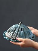 特賣蚊香盒荷葉陶瓷蚊香爐大號蚊香盤托日本創意家用仿古室內荷花日式紋香盒