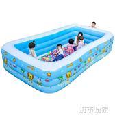 游泳池 兒童遊泳池充氣家庭嬰兒遊泳桶成人家用寶寶加厚小孩超大號洗澡池 igo 聖誕節狂歡
