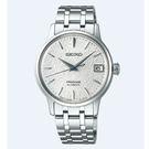 [萬年鐘錶]  PRESAGE 精工4R35 機械 女款 雪跡錶面 限量錶 日期 銀殼 銀鋼帶 SRP843J1 (4R35-03E0S)