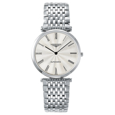 LONGINES浪琴 La Grande 嘉嵐機械錶-銀x羅馬字/36mm L49084716