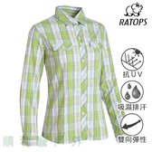 瑞多仕RATOPS 女款彈性格子襯衫 DA2368 黃綠色/紫芋格 長袖襯衫 排汗襯衫 防曬襯衫 OUTDOOR NICE