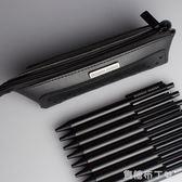 筆袋鉛筆盒男韓國小學生新簡約創意文具盒INS網紅女初中生文具袋 焦糖布丁