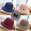 ※現貨 金屬M標摺疊編織盆帽 5色【E297237】