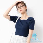 ❖ Summer ❖ 方領素面/橫條紋上衣 - earth music&ecology