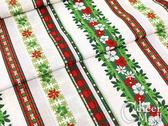 中島凱西的夏威夷聖誕季-聖誕條紋~拼布邊條布(白/綠 2色)