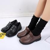 店長推薦★圓頭日系制服鞋學院風cos黑棕色JK女平跟舒適小皮鞋