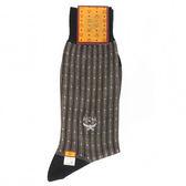 MCM 條紋保暖紳士棉長襪(淺卡其色)980209