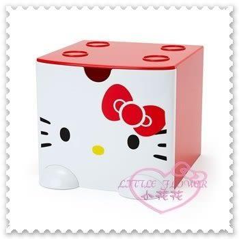 ♥小花花日本精品♥Hello Kitty 單抽收納置物盒桌上小物盒飾品盒積木盒大臉蝴蝶結L號(預購)