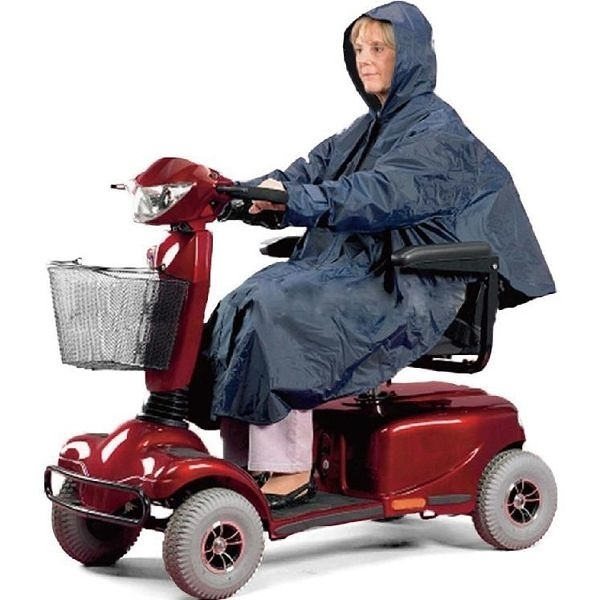 დ回饋降價中დ 電動代步車用雨衣 - 斗篷式/有袖 銀髮族 行動不便者使用[ZHCN1735]