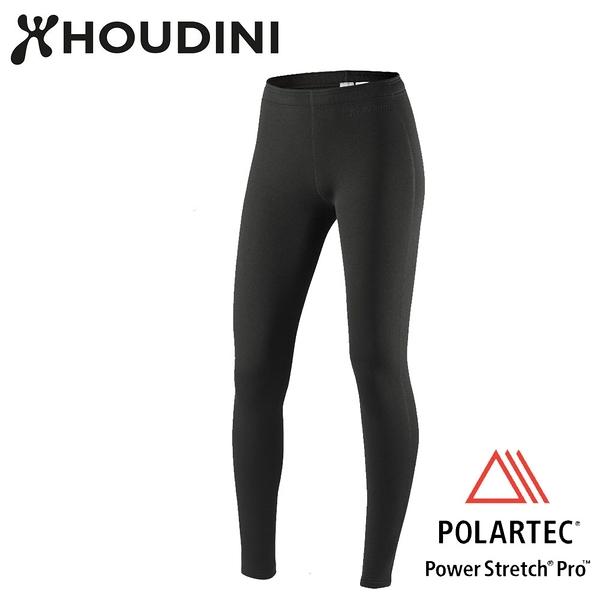 瑞典【Houdini】W's Long Power Tights 女款Power Stretch® Pro™保暖褲 純黑