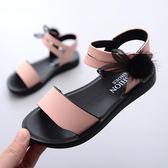 兒童涼鞋女童2019新款正韓夏季時尚中大童女孩軟底小公主沙灘鞋子