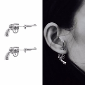 耳環 手槍 造型 設計 前後款 耳釘 耳環【DD1801169】 BOBI  10/18