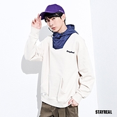 STAYREAL REAL工裝風撞色連帽T