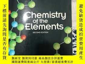 二手書博民逛書店chemistry罕見of elements 格林伍德 素化學第