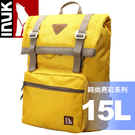 【INUK 加拿大 15L時尚亮彩休閒背包《黃》】IKB60614103041/後背包/背包