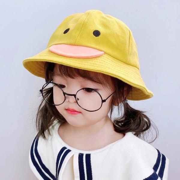 兒童遮陽帽 兒童漁夫帽男童女童遮陽春秋夏季薄款潮可愛超萌幼兒帽子【快速出貨八折搶購】
